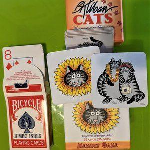 B. Kliban Cats Memory Cards & classic playing card